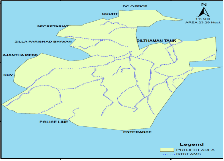 The location and area of the City forest area