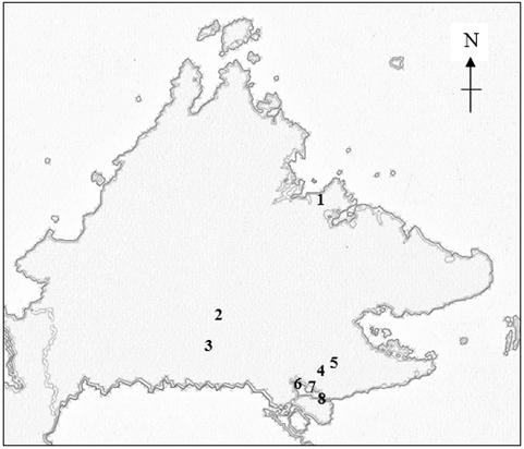 Map of Sabah, Malaysia, Borneo