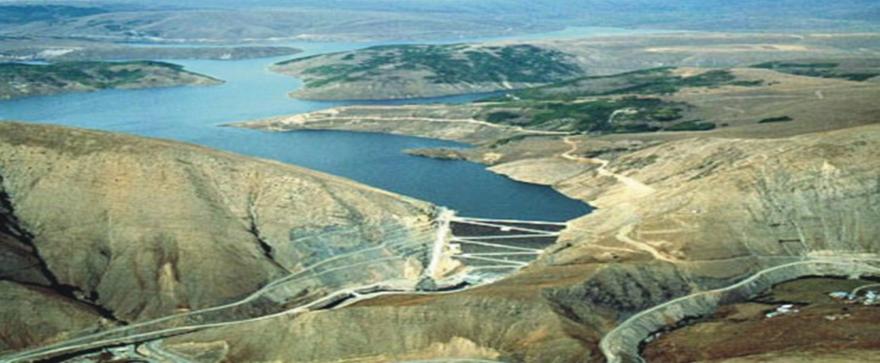 Kuzgun Dam lake in Erzurum, Turkey