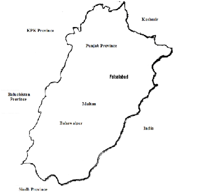Location where H. armigera were collected from Pakistan.
