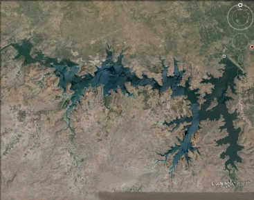 Showing satellite image of Mula dam (19.32 93065°N, 74.5295548°E) (Source- Google earth)