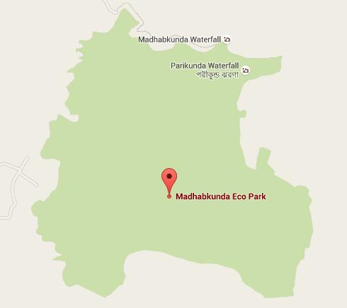 Map of Madhabkunda Eco Park